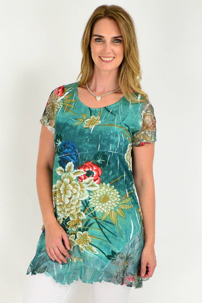 green tunic top by I Love Tunics