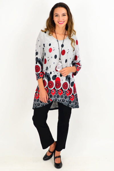 Red Spot Ferguson Tunic Top
