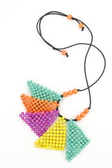 Colourful Triangles Necklace - at I Love Tunics @ www.ilovetunics.com = Number One! Tunics Destination
