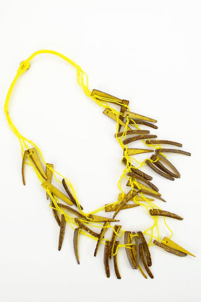Yellow Tribal Necklace