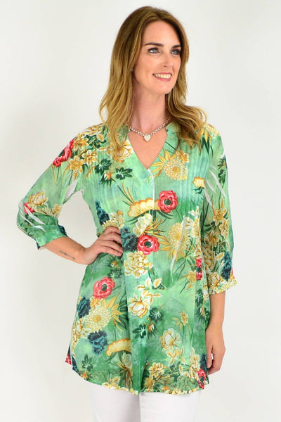 floral print ladies shirt