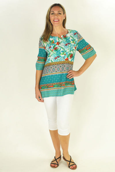 Green Tropical Garden Tunic