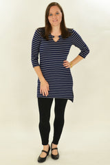Navy Stripe Belinda Tunic | I Love Tunics | Tunic Tops | Tunic Dresses | Women's Tops | Plus Size Australia | Mature Fashion