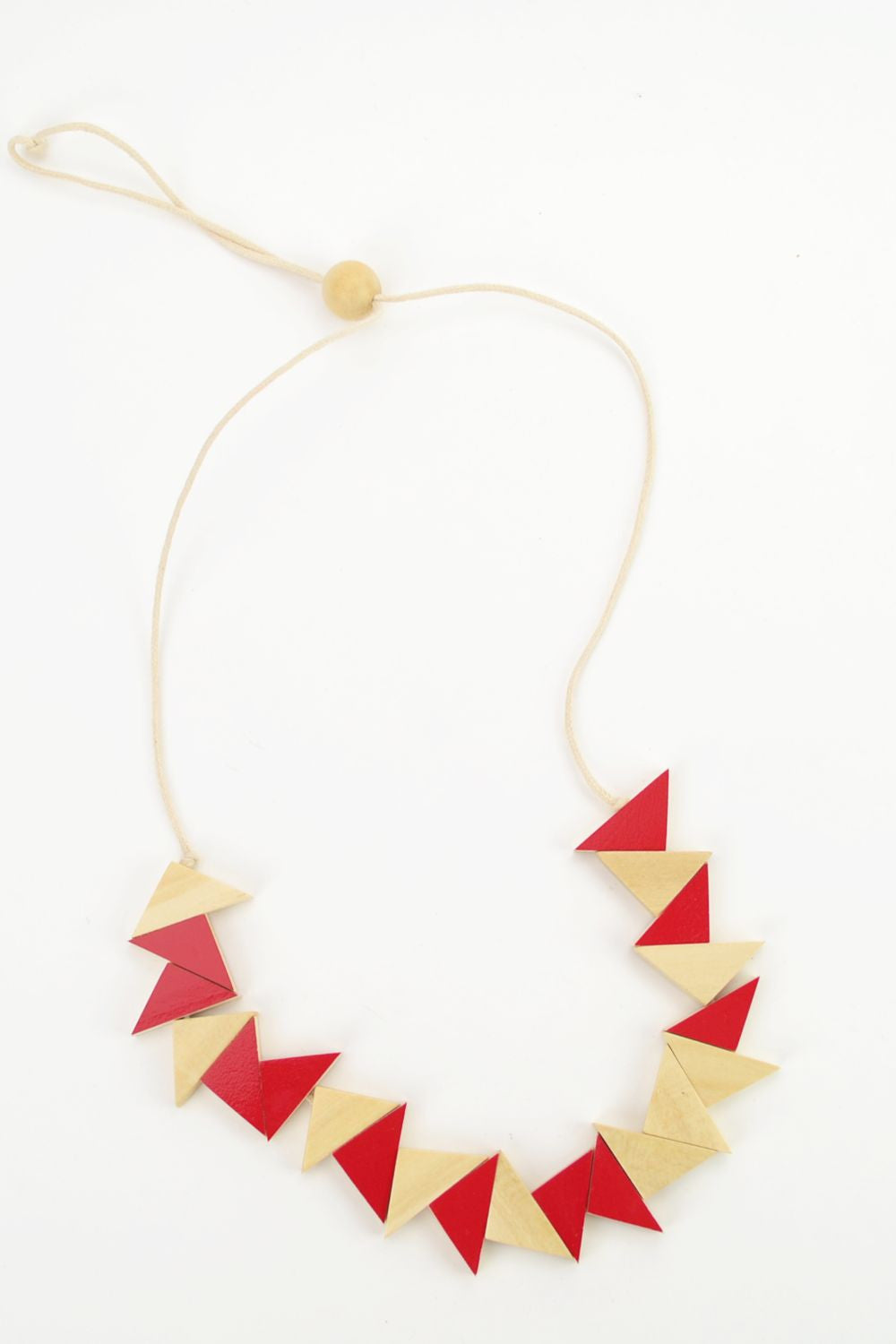 Red Triangle Necklace - at I Love Tunics @ www.ilovetunics.com = Number One! Tunics Destination