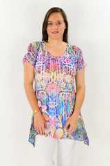 Floral Rainbow Tunic Top - at I Love Tunics @ www.ilovetunics.com = Number One! Tunics Destination
