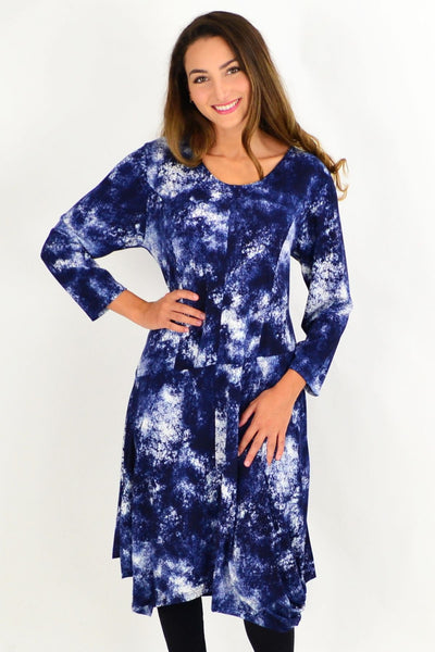 Blue Cloud Cocoon Tunic Dress | I Love Tunics | Tunic Tops | Tunic | Tunic Dresses  | womens clothing online