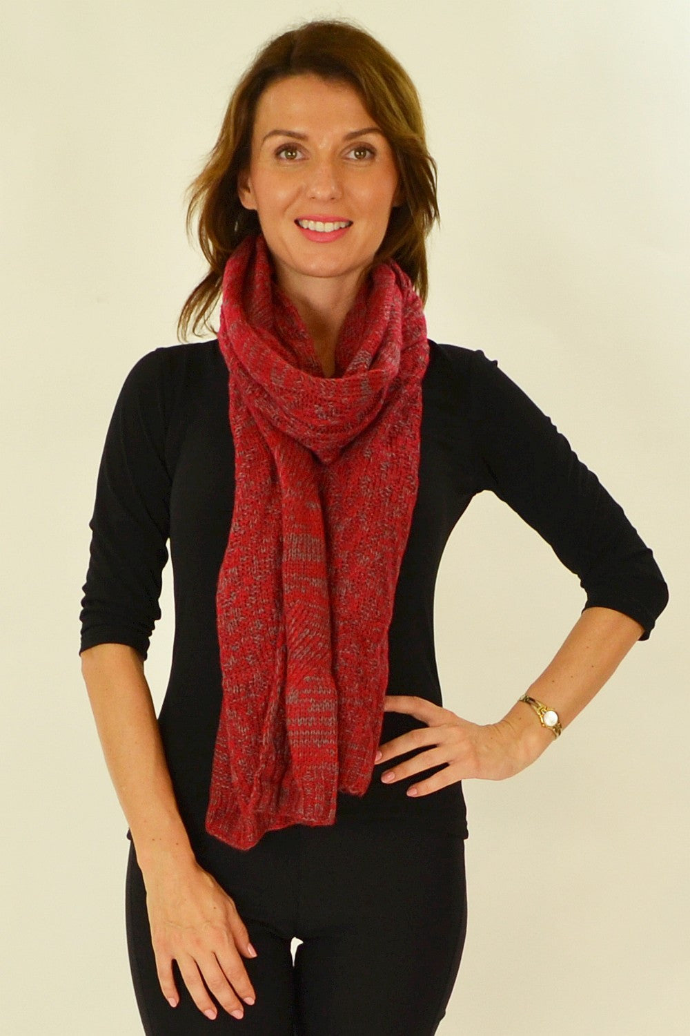 Red Taupe Pocket Scarf