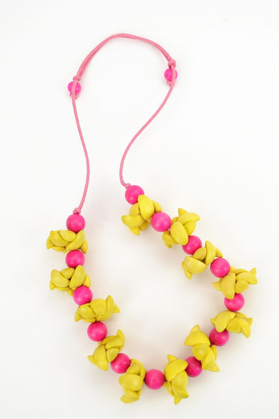 Yellow and Pink Necklace