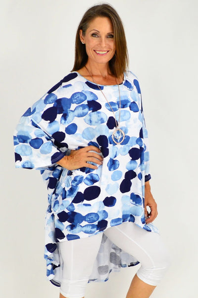 Blue Spot Sasha Relaxed Long Tunic Top | I Love Tunics | Tunic Tops | Tunic Dresses | Women's Tops | Plus Size Australia | Mature Fashion