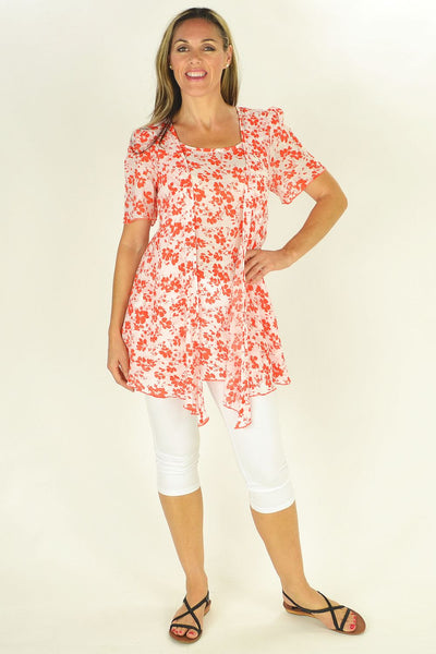 Orange Cherry Blossom Tunic