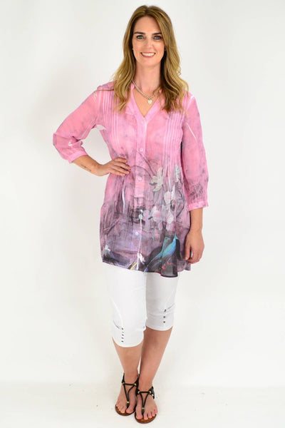 Pink Orchid Tunic Shirt