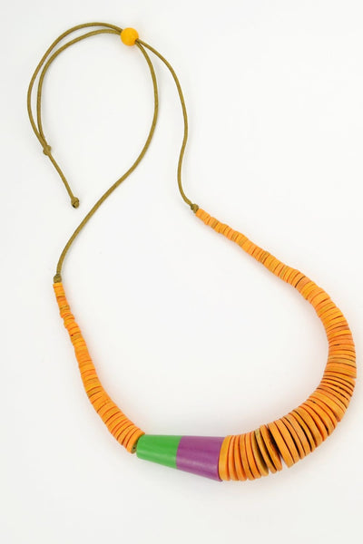 Orange Disks Necklace