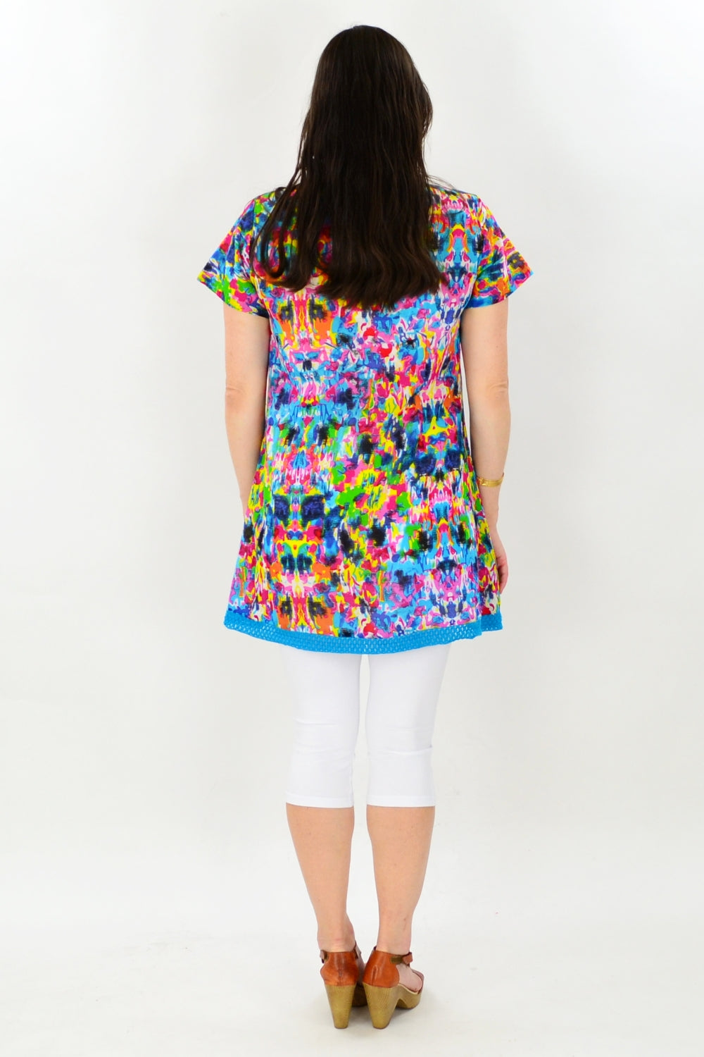 Colour Splash Short Sleeve Tunic - at I Love Tunics @ www.ilovetunics.com = Number One! Tunics Destination