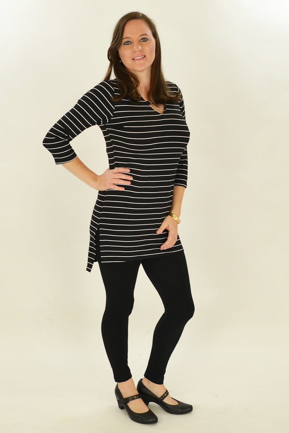 Black Stripe Belinda Tunic | I Love Tunics | Tunic Tops | Tunic | Tunic Dresses  | womens clothing online