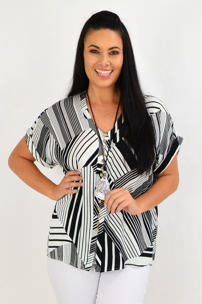 Black White Stripe Tunic Top | I Love Tunics | Tunic Tops | Tunic | Tunic Dresses  | womens clothing online