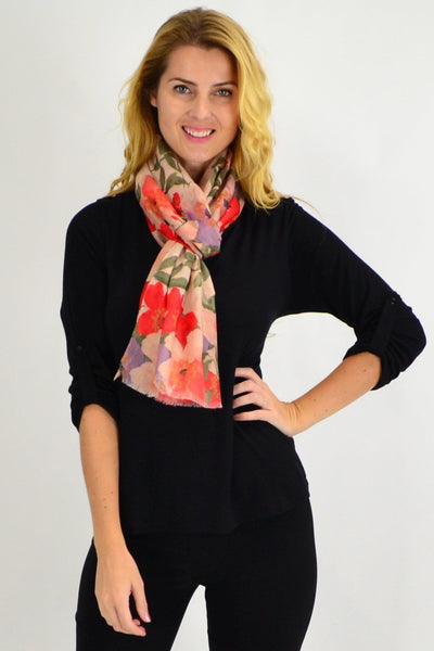 Country Garden Floral Scarf - I Love Tunics