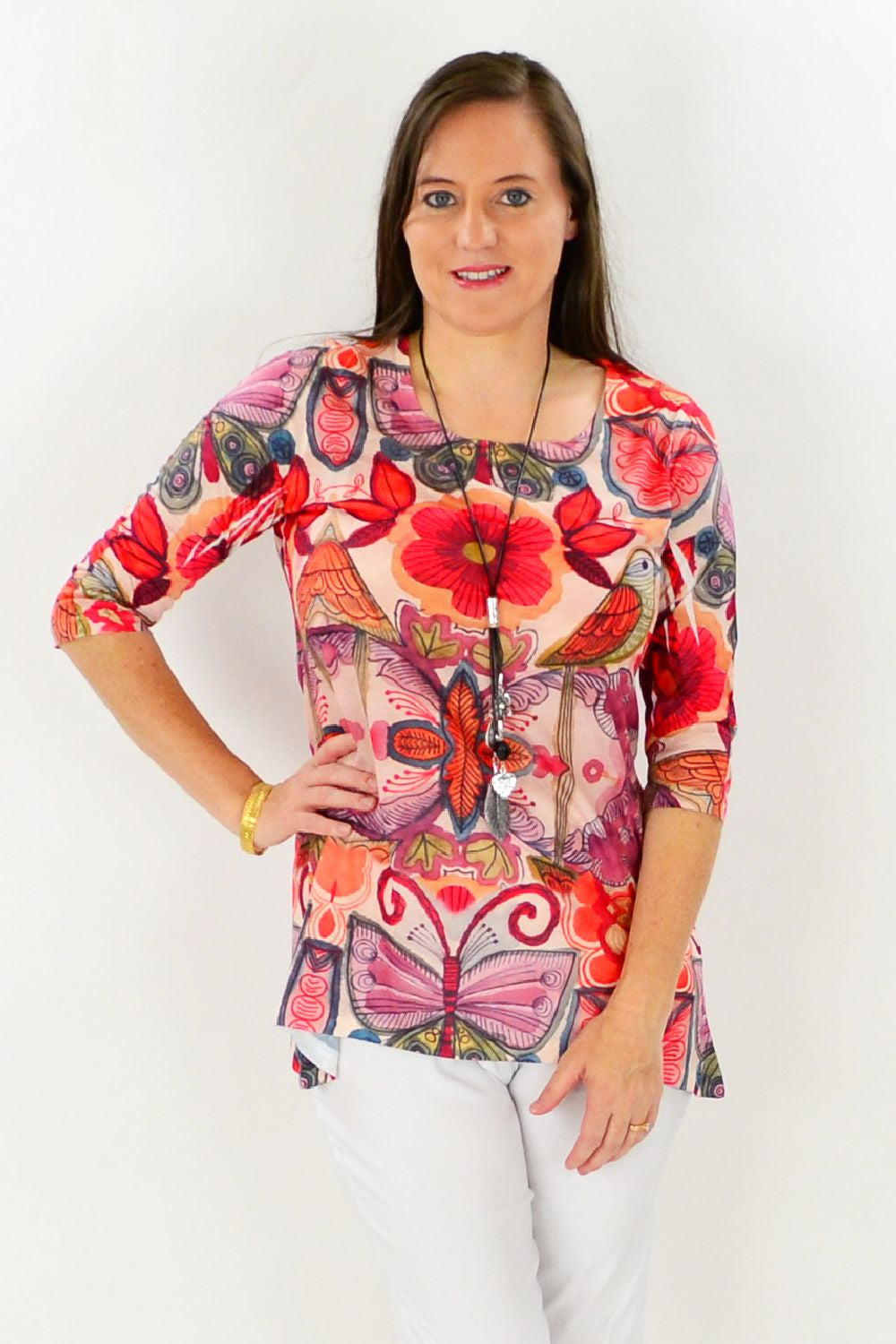 Birds and Flowers Tunic Top - at I Love Tunics @ www.ilovetunics.com = Number One! Tunics Destination