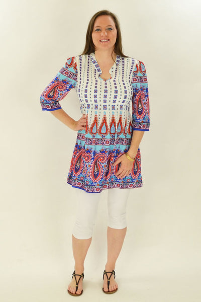 Peppa Paisley Blue Tunic