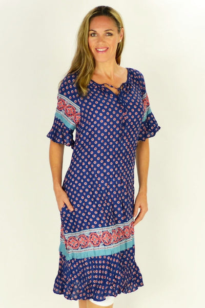 Flower in the Meadow Tunic Dress - at I Love Tunics @ www.ilovetunics.com = Number One! Tunics Destination