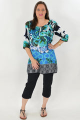 Bali Garden Tunics Top | I Love Tunics | Tunic Tops | Tunic Dresses | Women's Tops | Plus Size Australia | Mature Fashion
