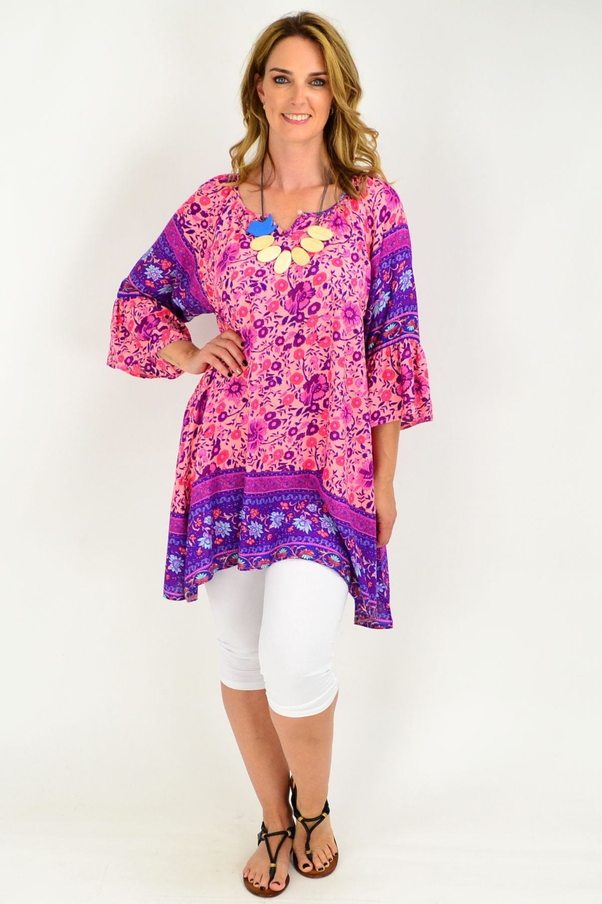 99de5357b86 Relaxed Tunic | Rayon | Loose fit blouse | Summer top | plus size ...