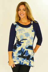 Blue Art Tunic - at I Love Tunics @ www.ilovetunics.com = Number One! Tunics Destination
