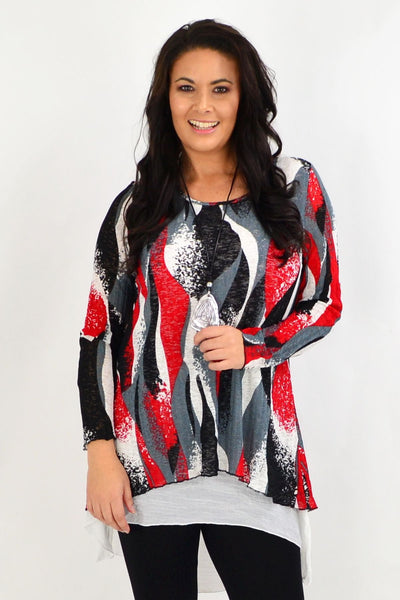 Red Ruby Swirl Tunic Dress | I Love Tunics | Tunic Tops | Tunic | Tunic Dresses  | womens clothing online