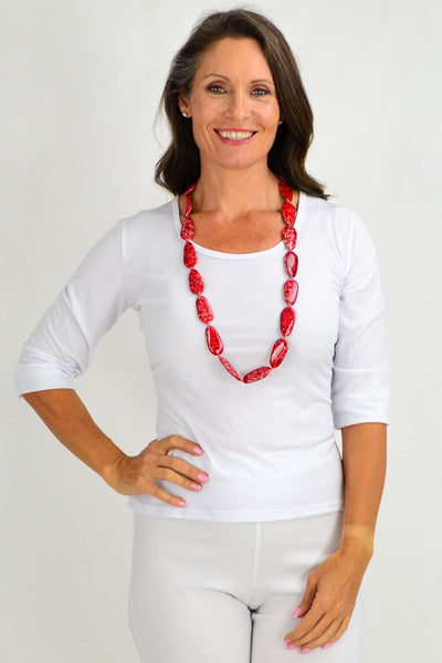 Red Speckled Necklace