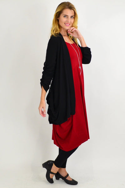 Black Textured Cardigan - I Love Tunics