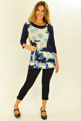 Blue Art Tunic | I Love Tunics | Tunic Tops | Tunic Dresses | Women's Tops | Plus Size Australia | Mature Fashion