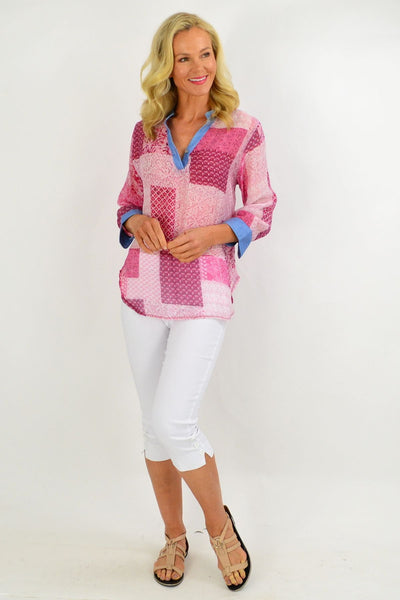 Pink Square Tunic Shirt