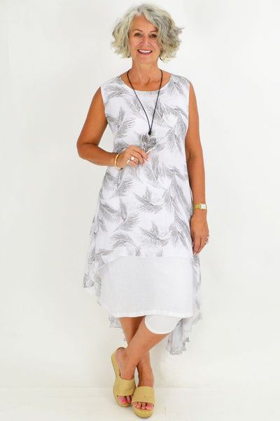 Grey Palm Tunic Dress