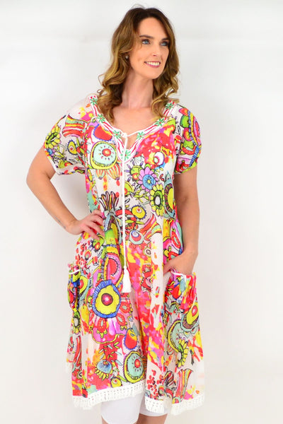 Bright Betty Long Tunic Dress