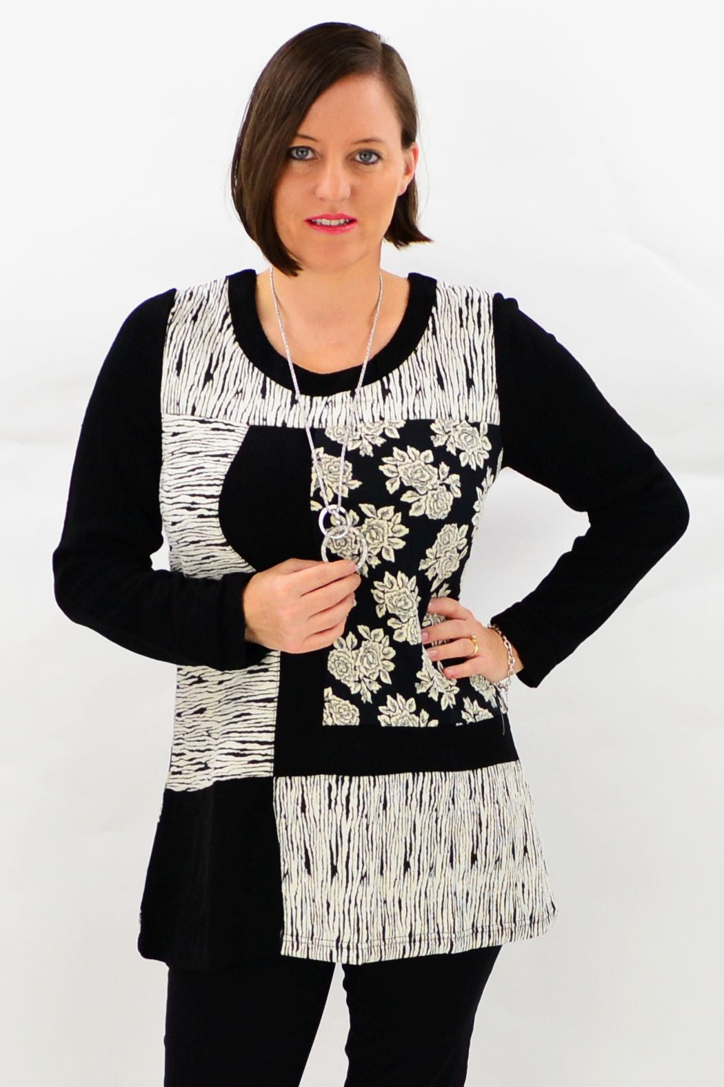 African Rose Tunic Top | I Love Tunics | Tunic Tops | Tunic Dresses | Women's Tops | Plus Size Australia | Mature Fashion