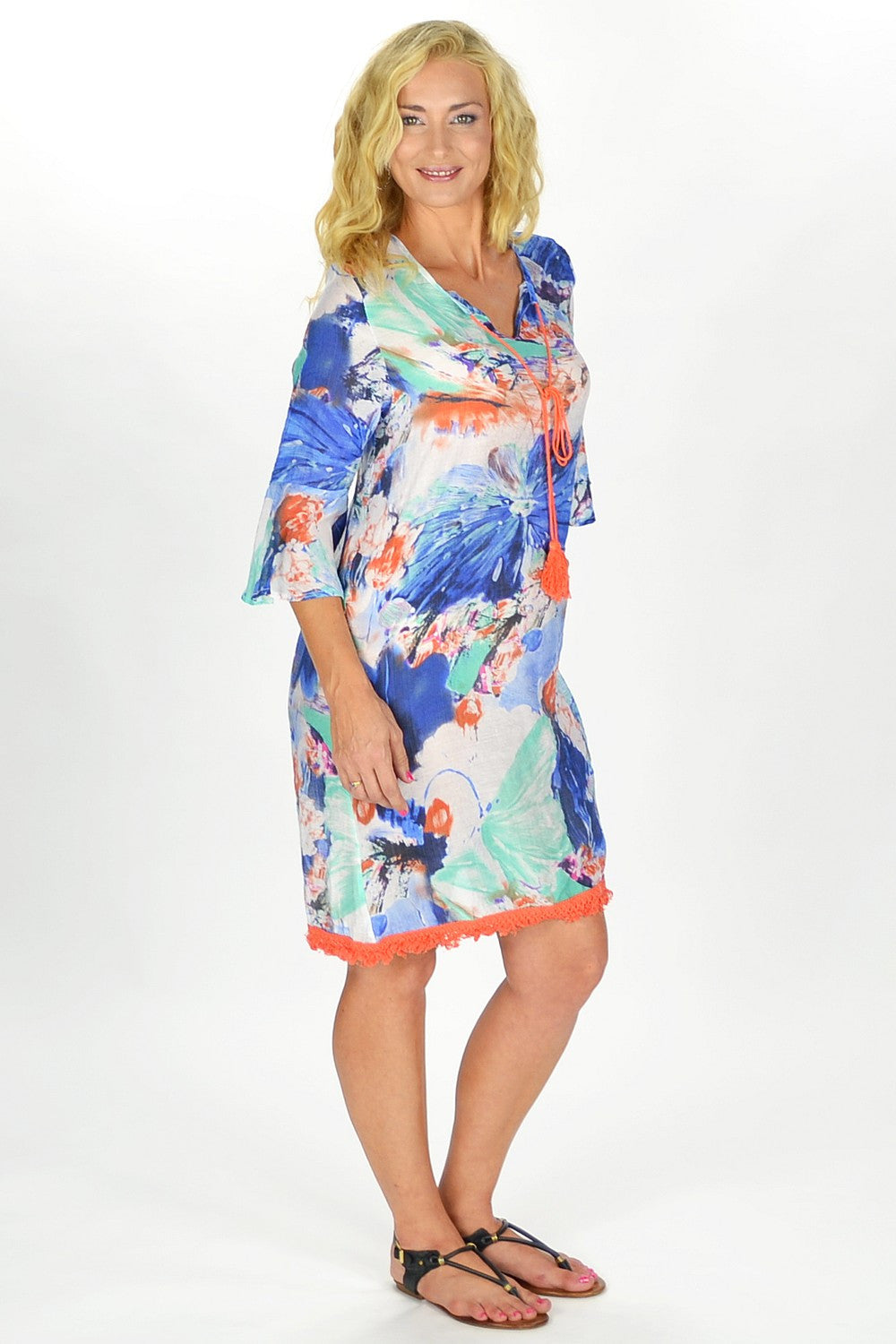 Orange Sunshine Tunic - at I Love Tunics @ www.ilovetunics.com = Number One! Tunics Destination