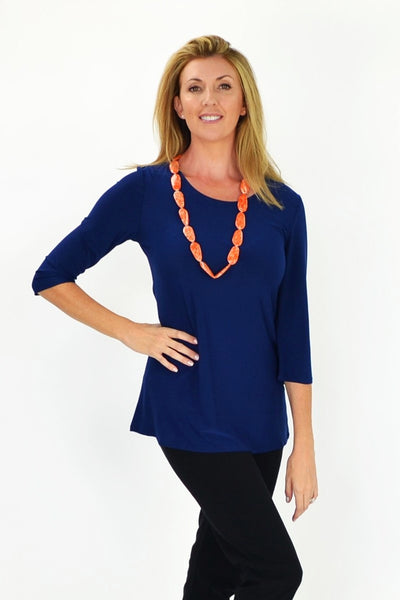 Navy Basic Tunic - at I Love Tunics @ www.ilovetunics.com = Number One! Tunics Destination