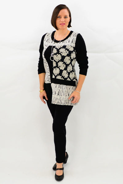 African Rose Tunic Top