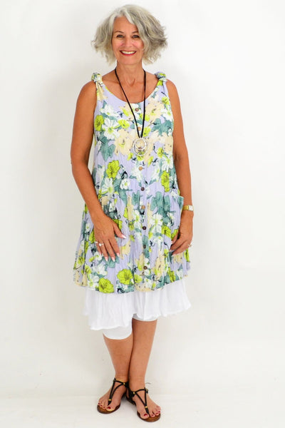 Blue Falice Floral Tunic Dress