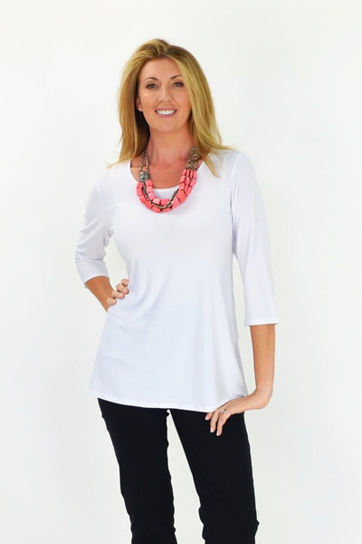White Basic Tunic | I Love Tunics | Tunic Tops | Tunic | Tunic Dresses  | womens clothing online