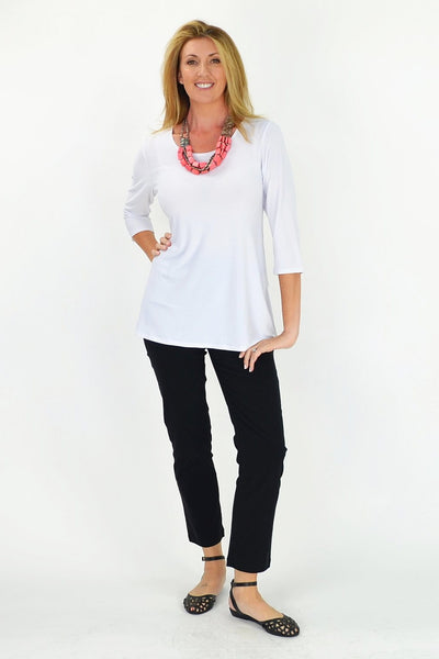 White Basic Tunic