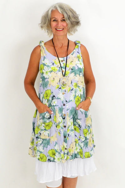 Blue Falice Floral Tunic Dress | I Love Tunics | Tunic Tops | Tunic | Tunic Dresses  | womens clothing online