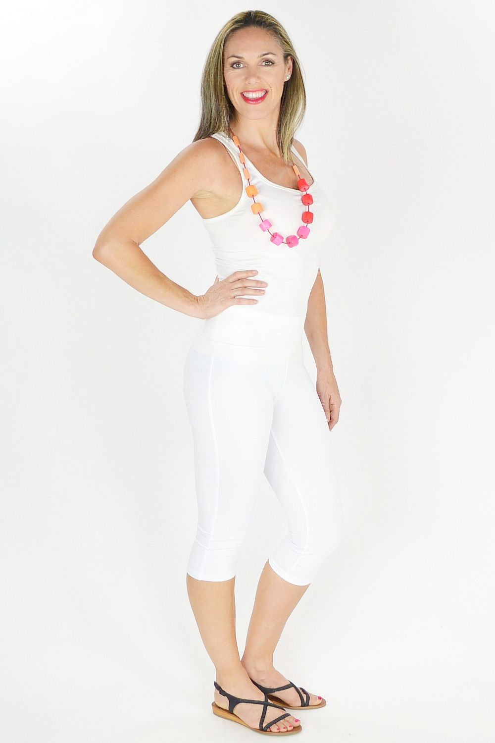White 3/4 leggings | I Love Tunics | Tunic Tops | Tunic | Tunic Dresses  | womens clothing online