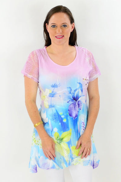 Hawaii Garden Tunic Top