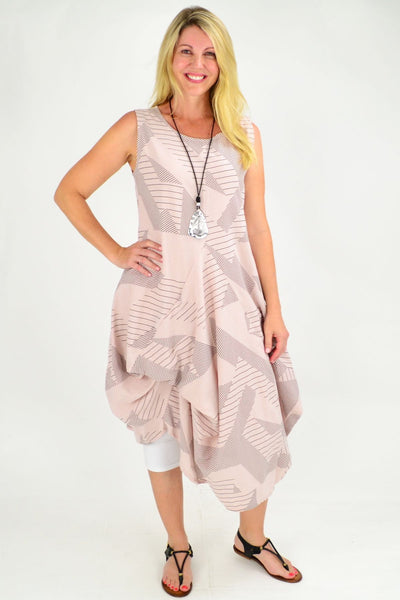Soft Pink Vanessa Panel Cotton Tunic Dress