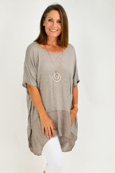Taupe Heron Island Plus Size Tunic | I Love Tunics | Tunic Tops | Tunic | Tunic Dresses  | womens clothing online