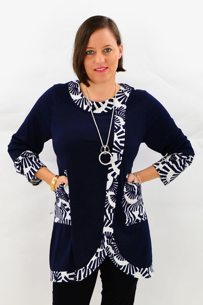 Navy Ebony Tunic Top