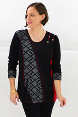 Black cotton 3/4 Leggings - at I Love Tunics @ www.ilovetunics.com = Number One! Tunics Destination
