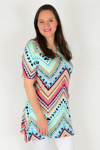 Zelmas Zig Zag Tunic Top - at I Love Tunics @ www.ilovetunics.com = Number One! Tunics Destination