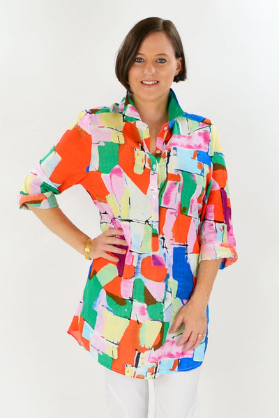 Orange Pink Kaira Tunic Shirt