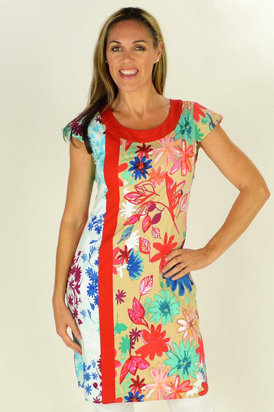 Floating Flower Tunic - at I Love Tunics @ www.ilovetunics.com = Number One! Tunics Destination